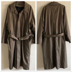 Kasper fleece lined trench coat size 44 regular